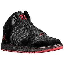 Jordan 1 Flight 4 - Boys' Primary School Basketball Shoes (Black/Varsity Red)