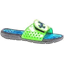Under Armour Playmaker V Slide - Boys' Primary Sch. Sch. Casual Shoes (BK/Elect