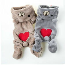 Chihuahua Teddy Dog Puppy Pet Jumpsuit Pajamas Warm Jacket Coat Clothes TS