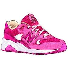 New Balance 580 - Girls' Primary School Running Shoes (Pink/White)