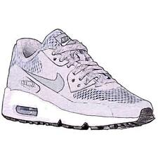 Nike Air Max 90 - Boys' Primary Sch. Running Shoes (Wolf GY/BK/WT/Cool GY)