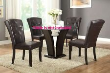 Dark Brown Faux leather Dining Chairs Tufted back Chair in different sets