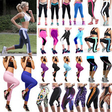 Womens Ladies Yoga Workout Gym Sports Pants Leggings Fitness Stretch Trousers