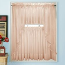 NEW - Stylemaster Elegance Voile PINK Sheer Curtain