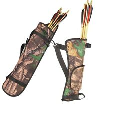 Camo Archery Target Hunting Side Back Hip Waist Arrow Quiver Bow Holder Belt Bag