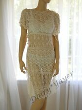 vintage All LACE bathing suit COVER UP small xsmall Hippie BoHo