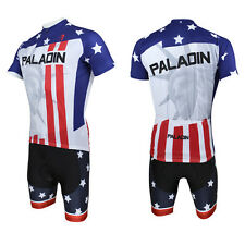 Men Statue of Liberty Bicycle Bike Cycling Short Jersey&Short Pants Suits D008