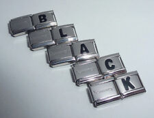 BLACK LETTER 9mm Italian Charm & 1x Genuine Nomination Classic Link ALPHABET