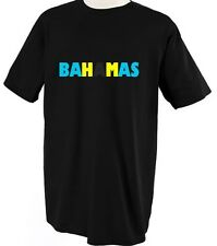 BAHAMAS COUNTRY FLAG PRIDE Unisex Adult T-Shirt Tee Top