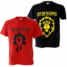 World of Warcraft WOW The Horde / Alliance Movie T-shirt Shirt Tops