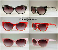 Cateye Polka Dot sunglasses Cat Eye 50s 60s Style Fashion Retro Alternative UK
