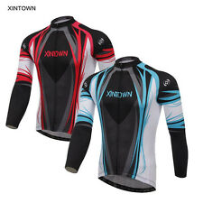 XINTOWN Team Long Sleeve Bike Jacket Bicycle Mens Outdoor Cycling Jersey Shirt