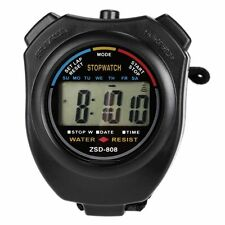 Stopwatch LCD Digital Sports Stop Watch Chronograph Time Date Alarm Timer Count
