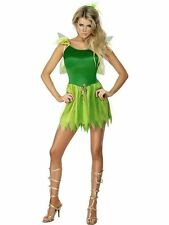 Woodland Fairy Costume Fancy Dress Outfit Womens Tinkerbell Disney Neverland Pan