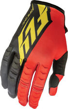 Fly Racing Mens & Youth Red/Black/Yellow Kinetic Dirt Bike Gloves MX ATV 2016