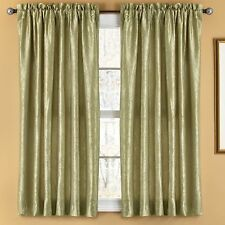 NEW Set 2 Lined Window Curtains Panels Drapes Pair 84 63 Faux Silk Sage Green