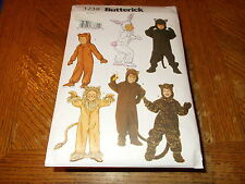Butterick COSTUME Pattern 3238 Boys/Girls Animal Jumpsuits~Bunny/Lion/Bear/More