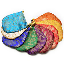 1 Pcs Embroidery Bag Chinese Traditional Auspicious Clouds Satin Gorgeous Pouch