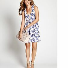 New Guess Women's Fleur Allover Floral Bird Print Sleeveless Woven Dress