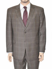 Tommy Hilfiger Trim Fit Olive Glen Plaid Flannel Two Button Wool Suit