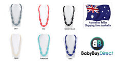 1 x TEETHING SILICONE NECKLACES Beads Mum Pendant teething Baby jewellery chew