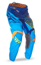 FLY Racing Kinetic Trifecta 2016 Youth MX/Offroad Pants Blue/Orange/Yellow