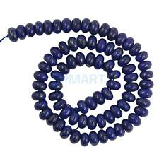 8mm/10mm Oval Blue Lapis Lazuli Gemstone Loose Bead Strand DIY 15.5 Inches