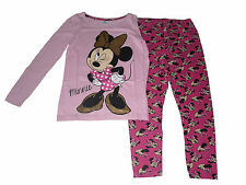 Girls Pyjamas Disney Minnie Mouse Pink Long 8 9 10 11 12 & 13 Years