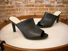 Franco Sarto Black Leather Quala Heeled Mules NEW