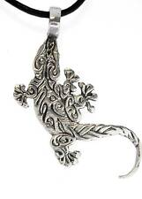 TRIBAL ALLIGATOR Gators Pewter Pendant Leather Surfer
