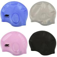 Silicone Unisex Adult Waterproof Swimming Swim Bathing Cap Hat One Size Fits All