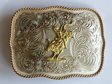 BULL RIDER Montana Silversmith GERMAN SILVER G868 205 Rodeo BELT BUCKLE Made:USA