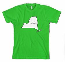 NEW YORK RAISED STATE Cotton Unisex Adult T-Shirt Tee Top