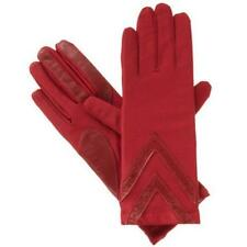 Ladies Isotoner Spandex THINSULATE Lined Stretch Classic Gloves Red or Oyster