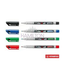 STABILO WRITE-4-ALL PERMANENT MARKER PEN - FINE tip, choice of 4 colours!