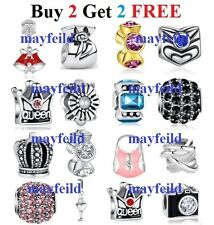 Silver Plated Freedom & Wonderful Charm Bead  fit European Bracelet