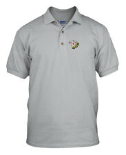 GAMBLING LOGO Embroidery Embroidered Unisex Adult Golf Polo Shirt