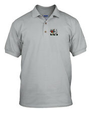 MEN IN GOLF CART Embroidery Embroidered Unisex Adult Golf Polo Shirt