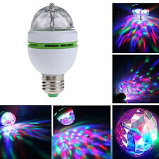 E27 3W RGB Color LED Rotating Colours Changing Spot Light Spotlight Lamp Bulb