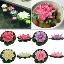 Artificial Lotus Floating Water Lily Flower Plants Home Decor Pond Display