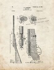Winchester 1900 bolt action single shot .22 Rifle Patent Print Old Look