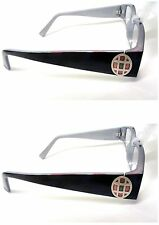 2 Pairs Foster Grant Suzanna Purple Jeweled Reading Glasses 1.00 1.50 2.00 2.50
