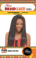 FEMI COLLECTION Synthetic Wig PURE BRAID LACE WIG 100% KANEKALON/TOYOKALON