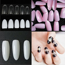 Pack OF 500pcs French False Nail Art Tips Full Round Acrylic UV Gel Nail Tips
