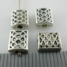 30/60/500pcs Tibetan Silver Rectangle Knot Spacer Beads Charms Jewelry 6x7mm