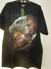 Rock Chang 100% COTTON GLOW IN DARK SHORT SLEEVE TATTOO HIGH QUALITY US SELLER