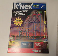 K'NEX CORKSCREW COASTER - Motorized Roller Coaster 337 Pieces New Unused Knex