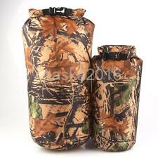 8/15L Camouflage Outdoor Military Kayaking Camping Waterproof Dry Bag Sack Pouch