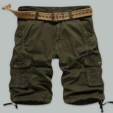New Men's Casual Army Cargo Combat Camo Camouflage Overall Shorts Pants Trousers