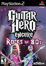 GUITAR HERO ENCORE ROCKS THE 80s Sony Playstation 2 PS2 Game COMPLETE - Tested